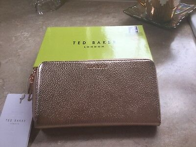 6a776f058 Ted Baker Rose Gold Leather Matinee Purse With Zip Tassle (BNIB)