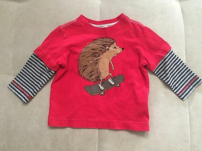 Baby Boy Hanna Anderson 80 Long Sleeve Shirt Top 2T With Porcupine Skateboard