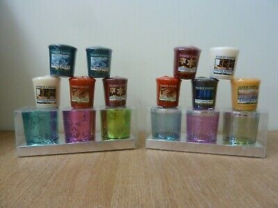 10 x Yankee Candle Votives and 6 Village Votive Holders NEW