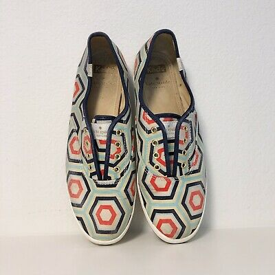 d70ee07a118c KATE SPADE KEDS Hexagon Geometric Printed Slip On Sneakers Size 8.5 ...