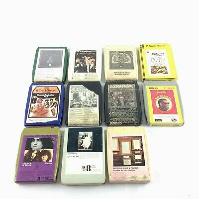 JOB Lot Collection 8-TRACK Tapes CARTRIDGES - 11 In Total **FREE UK P&P**