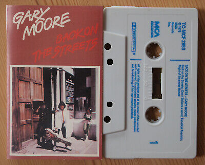 Gary Moore - Back On The Streets (Mca Tc-Mcf 2853) 1978 Uk Cassette Tape Vg+
