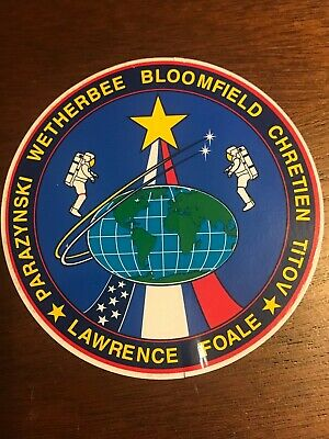 Nasa Sts-86 Space Shuttle Atlantis Mission To The Mir Space Station Crew Decal