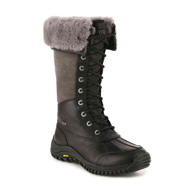 ab2f9401be5 UGG ADIRONDACK TALL Black Gray Winter Snow Boots Womens Size 6