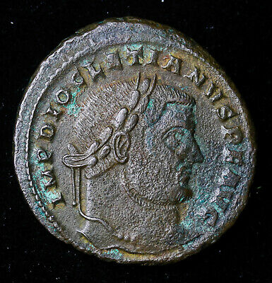 Diocletian 284 - 305 AD Bronze Follis Ancient Roman Coin Moneta Stg Left 8.3 ...