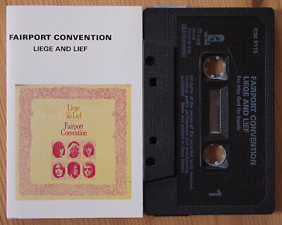 FAIRPORT CONVENTION - LEIGH AND LEIF (ISLAND ICM 9115) 1980s CASSETTE REISSUE