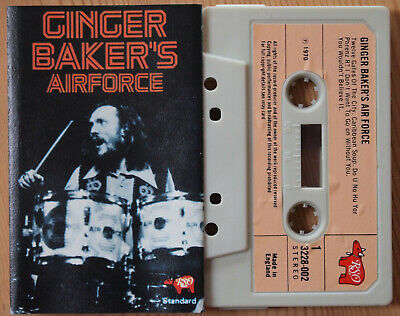 Ginger Baker's Airforce (Rso 3228 002) Uk Cassette Compilation Cream Clapton