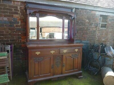 Large Antique Chiffonier / Sideboard With Mirror