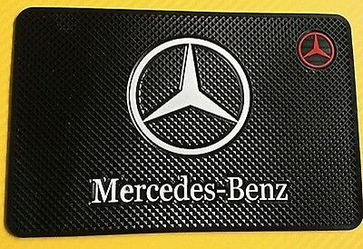 Mercedes Benz Actros Logo Car Antiskid Dashboard Mat Non Slip holder mobile Keys
