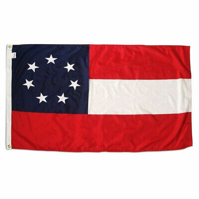 CIVIL WAR 1ST CSA FLAG PATCH Embossed Sew On PATCH New # 12105