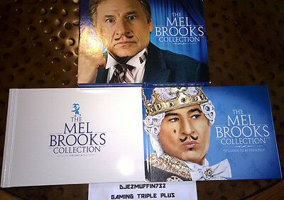"""Mel Brooks Collection Blu-Ray Set (Includes """"It's Good To Be King"""" Book) Oop"""
