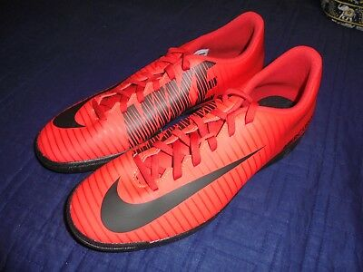 898a2d7cc86 Nike Mercurial Vortex Iii Ic Indoor Soccer Shoes Size 10.5 Red Black 831970 -616