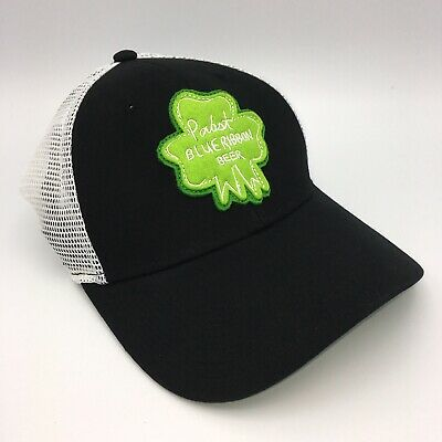 Pabst Blue Ribbon Beer Trucker Hat St Patricks Day Green Shamrock PBR SnapBack