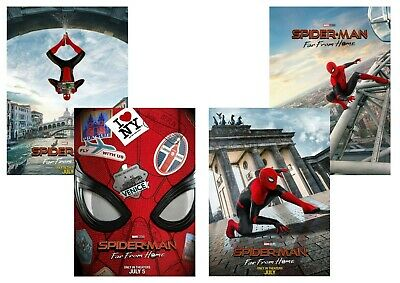 Marvel Comics: Spider Man Far From Home  A5 A4 A3 Teaser Movie & DVD Posters
