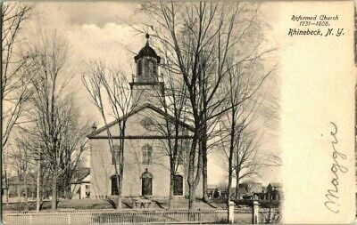 EARLY 1900'S. RHINEBECK, NY. REFORMED CHURCH. POSTCARD q4