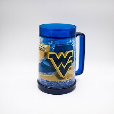Set of 3 West Virginia Mountaineers Full Color Black Freezer Freezie Mugs