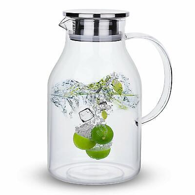 68 Ounces Glass Pitcher with Water Ice Tea and Juice Beverage