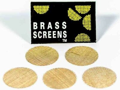 "10 BRASS 3/4"" Pipe Screens/Tobacco/Metal/Smoking/Filters/Bowl USA SELLER"