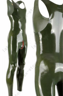 534 Latex Gummi Rubber Male Catsuit bodysuit unitard cod piece customized 0.4mm