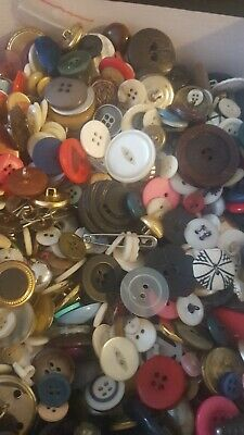 Lot of 6+ lbs of Vintage Antique Buttons ALL TYPES.  ESTATE SALE COLLECTION