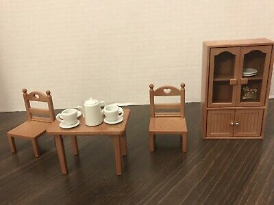 Vintage Maple Town Sylvanian Families Calico Critters Dining Room Furniture Set