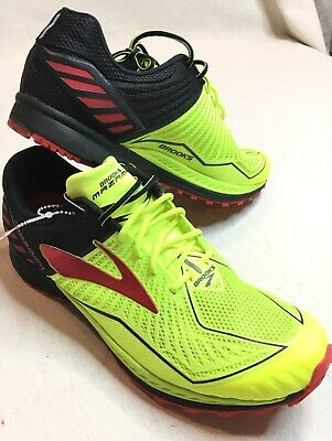 d206f3170a876 Mens Brook Mazama Trail Running Shoes Nightlife Black High Risk Red Size 9D