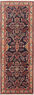"""Hand-knotted Persian Carpet 3'5"""" x 9'5"""" Lilihan Traditional Wool Rug"""