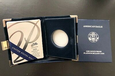 2006 w Platinum Proof 1oz US MINT BOX$COA ONLY ( NO COIN )
