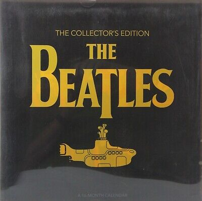 """2019 The Beatles Deluxe Collectors Edition 12"""" x 12"""" Wall Calendar Yellow Sub"""