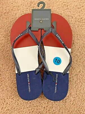 Tommy Hilfiger RED WHITE BLUE SEXY Flip Flops Sandals NEW Womens Sz 10 ~j9ks