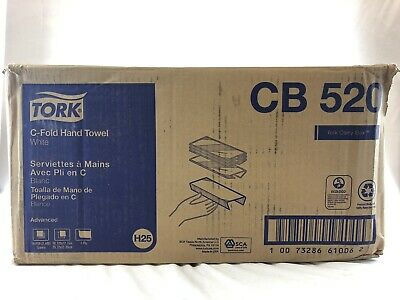 Tork Advanced C-Fold Towels 1-Ply White 150/pk 16pk/ctn CB520 NEW