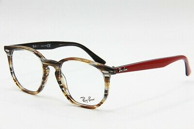 2bd6b2281138d New Ray-Ban Rb 7151 5802 Brown Authentic Eyeglasses Frame Rb7151 50-19 W
