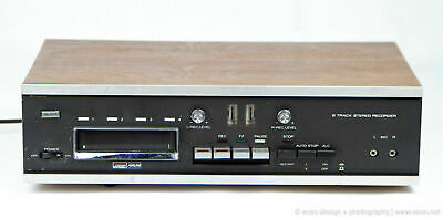 Ward Airline Stereo 8-Track Tape Player Recorder Wood Cabinet Japan Working