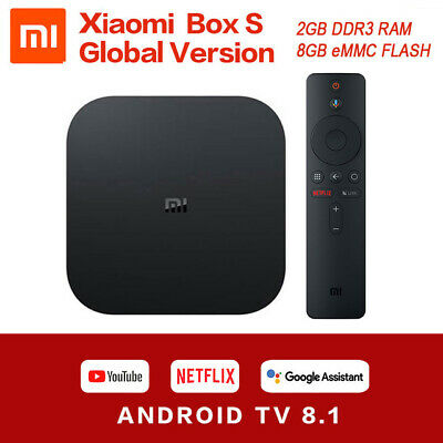 Global Version Xiaomi Mi Box S Smart TV BOX 4K HDR 2+8GB Android 8.1