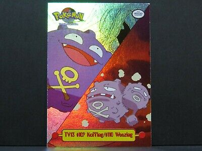 TV13 109 Koffing 110 Weezing - Topps Pokemon Card Series 1 (Near Mint)