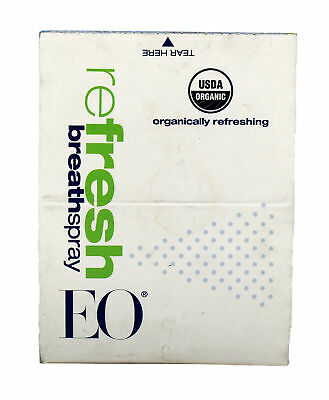 EO Refresh Organic Breath Spray 0.33 Ounce (Pack of 12)