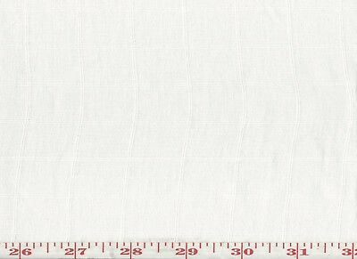 50% Linen Overstock White Sheer Drapery Fabric by Roth & Tompkins Quilon Check