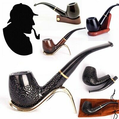 Durable Wooden Wood Smoking Pipe Tobacco Cigarettes Cigar Pipes Gift Collectible
