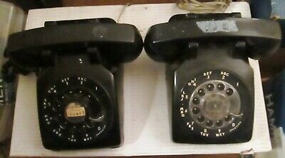 Western Electric Model Y 500 9/51, 1951 Bell Systems Black Rotary Phone WORKS!!