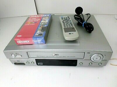 LG CC293TW VCR + remote , + New tape VHS PLAYER VCR