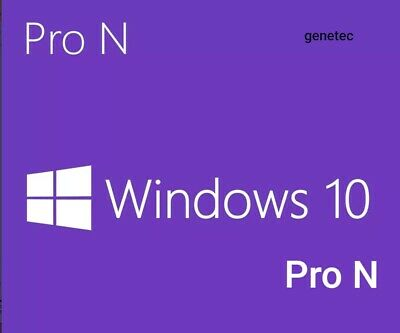 Win 10 Pro N- Key/Clave Licencia/license 32/64 Bits 100%Original