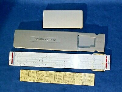 Vintage ARISTO STUDIO 0968 SLIDE RULE Made in Germany With the case