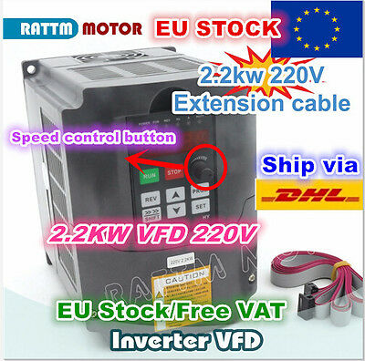 【UK】2.2KW 220V 400Hz HY VFD Variable Frequency Inverter 3HP 10A Output 3 phase