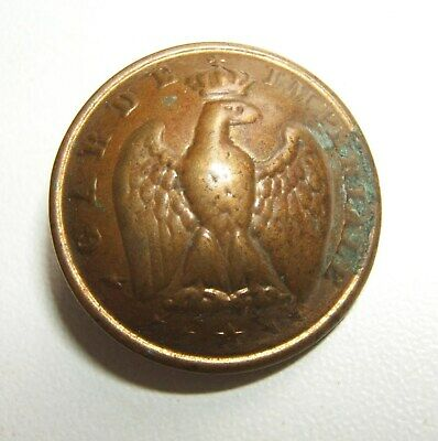 BOUTON GARDE IMPERIALE 24 mm PERIODE SECOND EMPIRE 1859 / 1871 - Fbt Berge & Cie