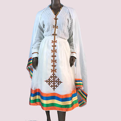 ERITREAN / ETHIOPIAN Dress  Stunning Traditional Habesha Clothes, Short  Length
