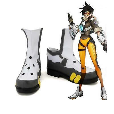 Overwatch Cosplay Tracer Shoes Boots Lena Oxton Costume Comic Con Party Ball