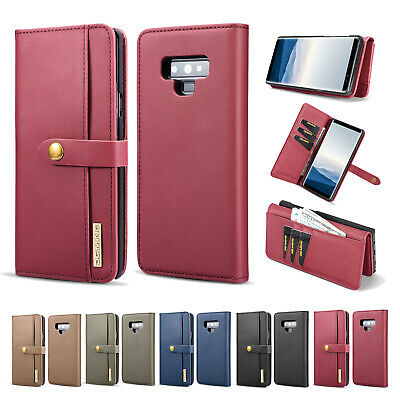 For Samsung Galaxy S9 Plus S8 Note 9 Flip Leather Card Holder Wallet Case Cover