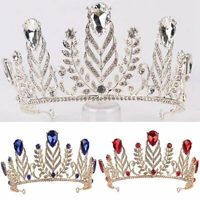 4ac070577d169a Handmade Rhinestone Leaves Bridal Tiaras Pageant Wedding Hair Accessories  Crown