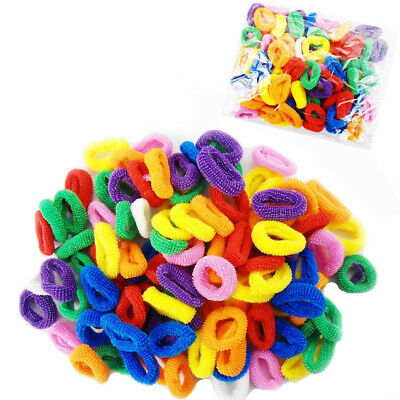 50 Hair Bobble Kids Band Elastic Girl Baby Rubber Scrunchies Snag Free Ponytail