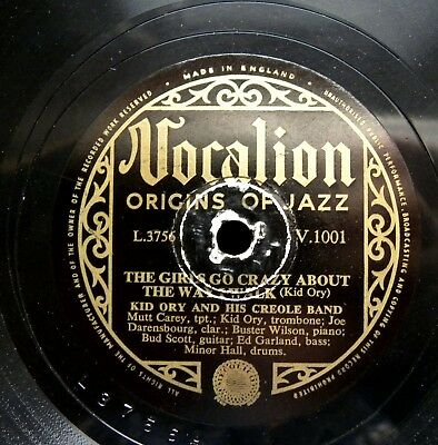 1034/ KID ORY AND HIS CREOLE JAZZ BAND- Blanche touquatoux-..TOP 78rpm Schellack